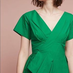 Green Anthropologie Fit & Flare Dress